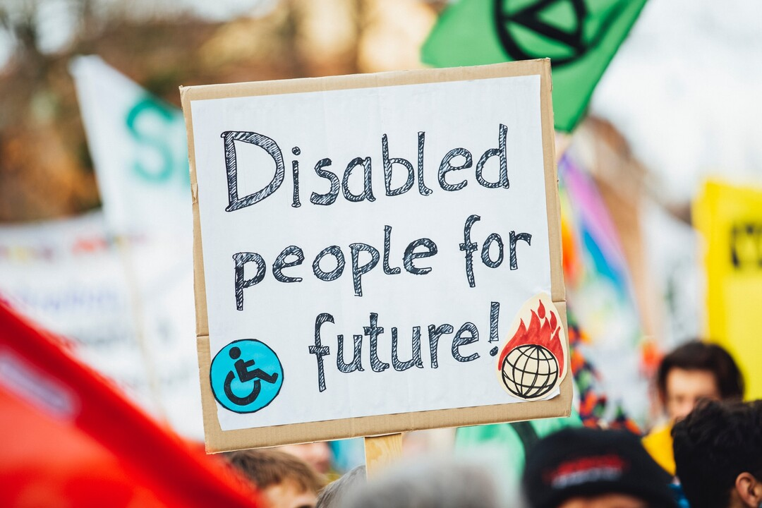 The banner reads: Disabled people for future Cover Image