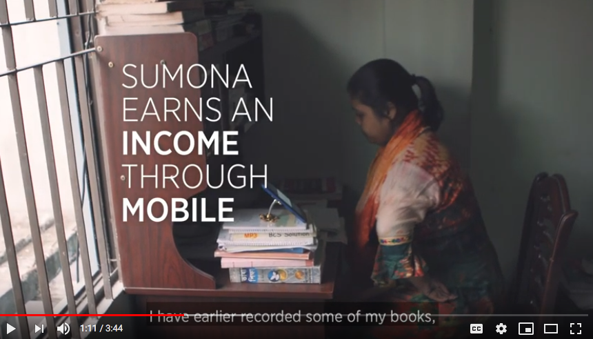 Sumona working using a mobile device Cover Image